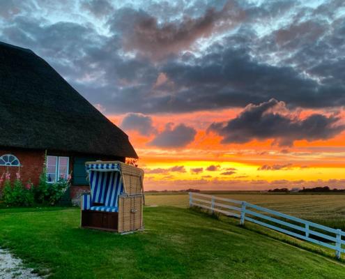 Foto Silberhof im Sonnenuntergang